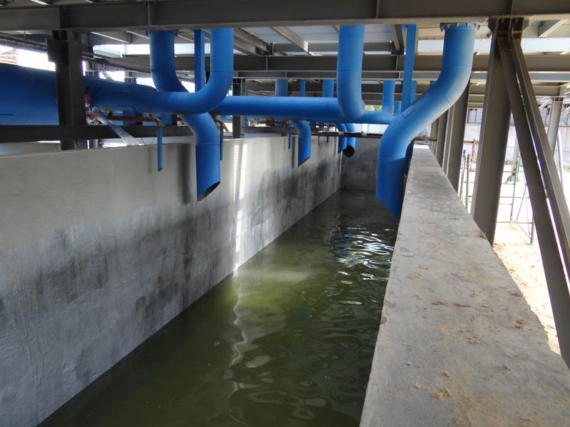 Технологический бетонный резервуар после обработки Дегидролом люкс марки 3