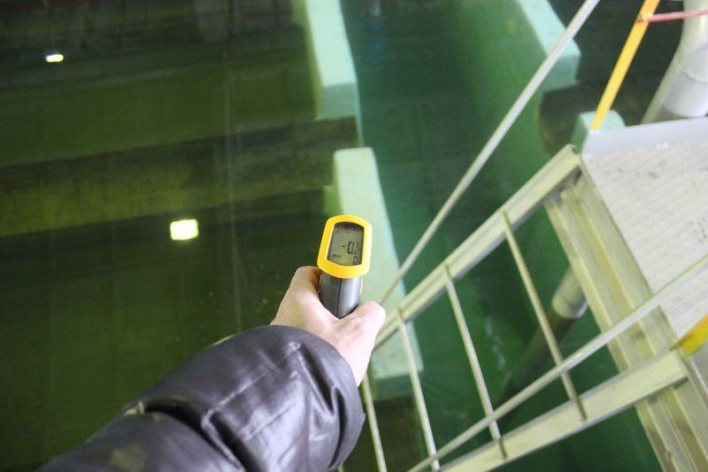 Выполнена гидроизоляция стыков пластиковых труб подачи воды в фильтр с металлическими гильзами, а также ремонт и гидроизоляция бетонных конструкций фильтра Дегидролом. Температура при эксплуатации на поверхности зимой