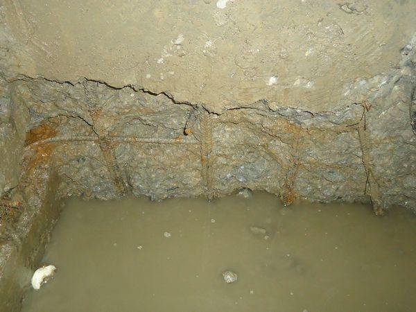 Оголена арматура в бетоне