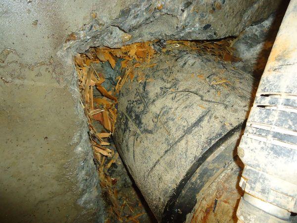 Стружка деревянная - скрытый стене материал для заделки стыка бетона с гильзой ввода коммуникаций