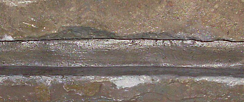 Поверхность шва после сушки